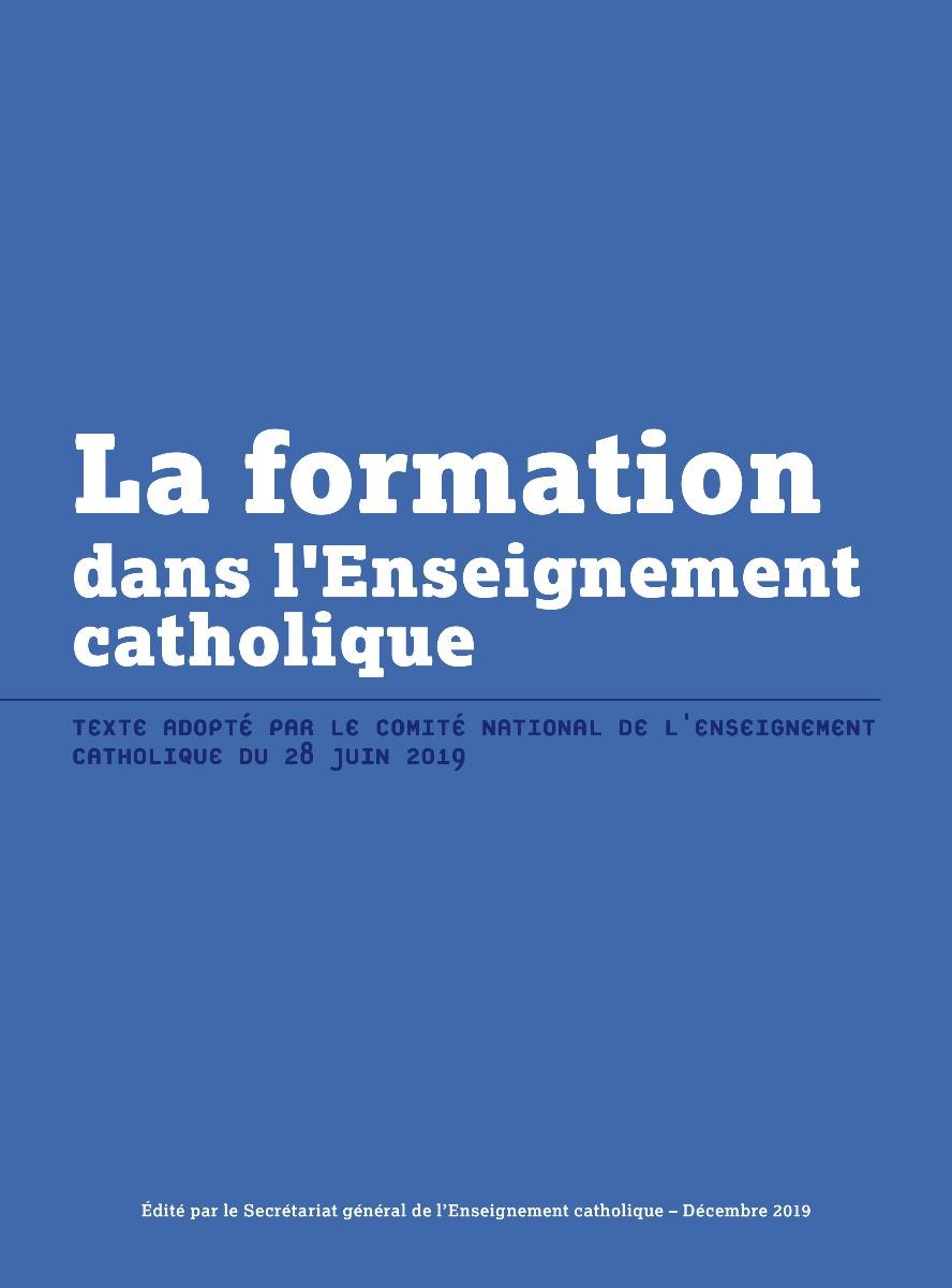 La formation dans l'Enseignement catholique--téléchargeable