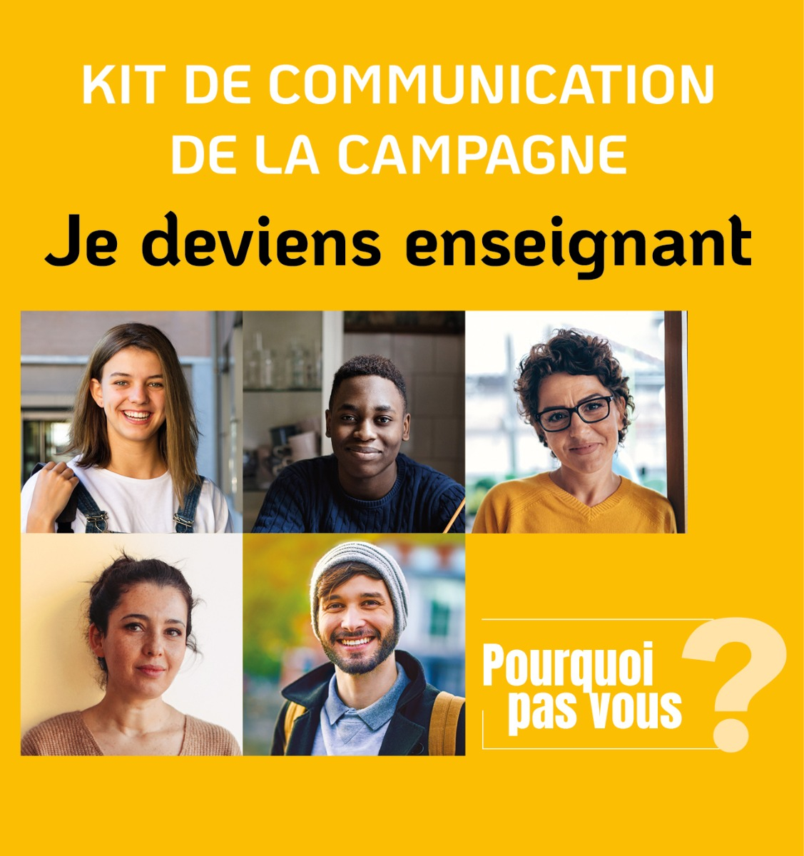 Kit de communication de la campagne Je deviens enseignant - version numérique