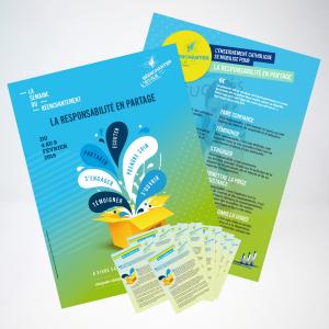 Lot de 2 affiches et 10 flyers - Semaine du réenchantement