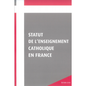 Couverture Statut de l'Enseignement catholique en France
