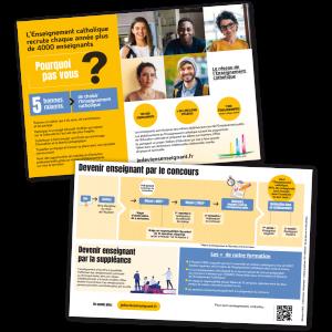 """Flyer campagne """"devenir enseignant"""" version numérique"""